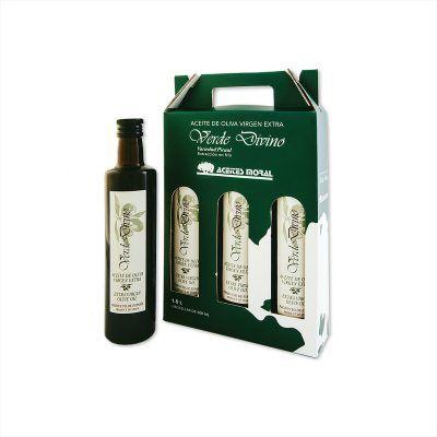 4 Botellas de Cristal de 500 ML Aceite de Oliva Virgen Extra para Restauración