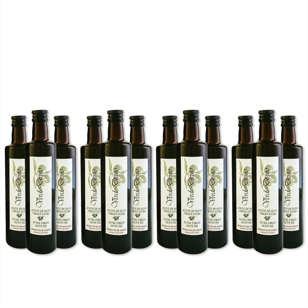 Botellas de Cristal de Aceite de Oliva Virgen Extra 500ML